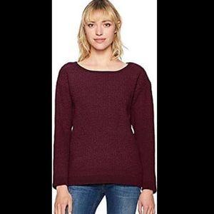 BB Dakota Purple Oversized Waffle Weave Sweater